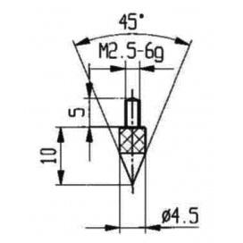 Touche conique pour comparateur - MÉTROLOGIE CONSEIL SOURCING